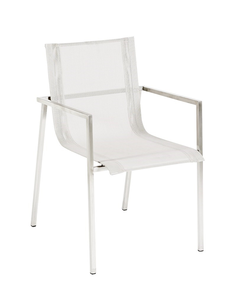 Mesh Chair S/S Bru With Arms Taupe